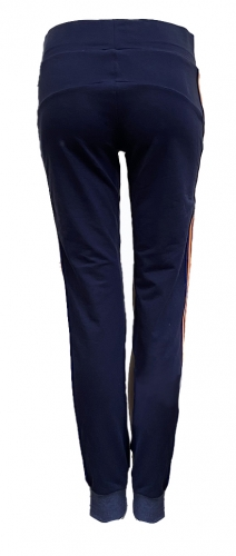 Blauwe joggingbroek met streep