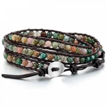 Ibiza armband litle green stone