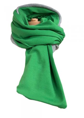 Stoere groene sjaal met fleece